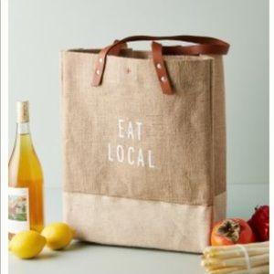 Anthropologie Apolis Eat Local Reusable Market Bag